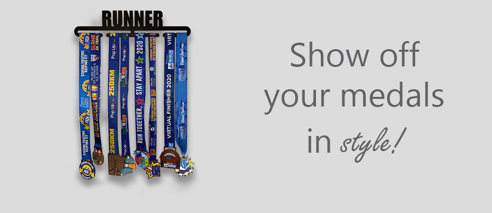 Show of your race medals in style with wee county medal hangers