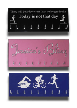 Personalised colour medal hangers designed by wee county medal hangers