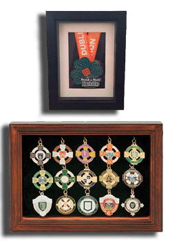 Medal frame selection from wee county medal hangers